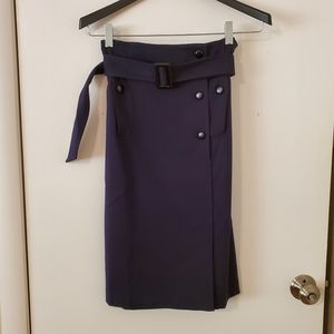 Anthropologie Cartonnier Navy Trench Pencil Skirt